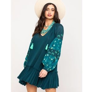 Free People NWT Mix It Up Floral Tunic Dress